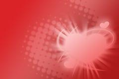 Fondo feliz del día de tarjetas del día de San Valentín Imagenes de archivo
