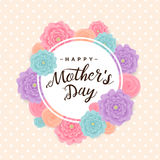 Fondo feliz del día del ` s de la madre Ilustración del vector Imagen de archivo libre de regalías