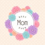 Fondo feliz del día del ` s de la madre Ilustración del vector Fotografía de archivo