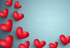 Fondo feliz del día del ` s de la tarjeta del día de San Valentín Ilustración EPS10 del vector Foto de archivo