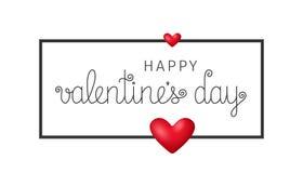 Fondo feliz del día del ` s de la tarjeta del día de San Valentín Ilustración EPS10 del vector Foto de archivo libre de regalías