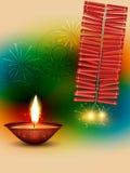 Fondo feliz del diwali Fotos de archivo libres de regalías