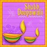 Fondo feliz del diwali Fotografía de archivo