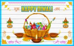Fondo feliz del diwali ilustración del vector