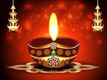 Fondo feliz del diwali con el deepak
