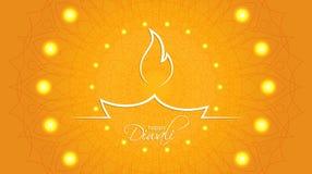 Fondo feliz del extracto de Diwali con el modelo decorativo del ethn