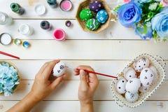 Fondo feliz del festival de Pascua Padre hecho a mano del diseño Imagen de archivo libre de regalías