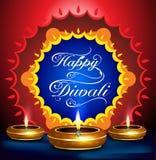 Fondo feliz del festival del diwali con el deepak
