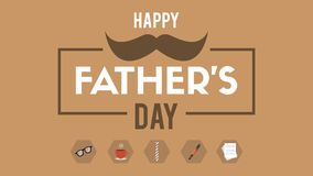 Fondo feliz del marrón del día de padre ilustración del vector