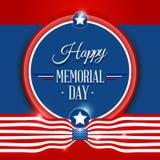 Fondo feliz del Memorial Day Foto de archivo libre de regalías