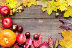 Fondo feliz del otoño de la acción de gracias Tarjeta de felicitación Foto de archivo