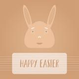 Fondo feliz del símbolo del personaje de dibujos animados del conejito de pascua Fotografía de archivo libre de regalías