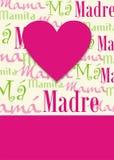 Fondo feliz del saludo del día de madres Foto de archivo