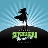 Fondo feminista del anuncio de la explosión del super héroe Fotos de archivo