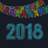 Fondo festivo 2018 Fotografia Stock