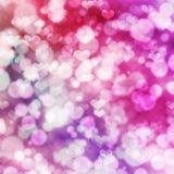 Fondo festivo abstracto con el corazón rosado Imagen de archivo libre de regalías