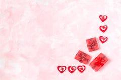 Fondo festivo al día de tarjetas del día de San Valentín Imagen de archivo libre de regalías