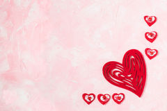 Fondo festivo al día de tarjetas del día de San Valentín Fotos de archivo