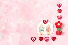 Fondo festivo al día de tarjetas del día de San Valentín Imagen de archivo