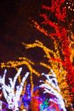Fondo festivo colorido del bokeh Fotografía de archivo