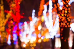 Fondo festivo colorido del bokeh Fotos de archivo