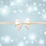 Fondo festivo con el arco de plata y de oro Imagen de archivo libre de regalías