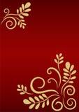 Fondo festivo con el ornamento floral de oro stock de ilustración