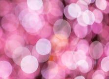 Fondo festivo con las luces del bokeh, para el diseño Foto de archivo libre de regalías