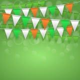Fondo festivo con le bandiere Fotografia Stock