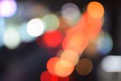 Fondo festivo con le luci defocused Fotografia Stock Libera da Diritti