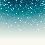 Fondo festivo con le scintille e la neve Immagini Stock Libere da Diritti