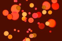 Fondo festivo con los círculos amarillos y anaranjados Imagen de archivo libre de regalías