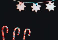 Fondo festivo con los dulces Foto de archivo libre de regalías