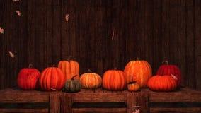 Fondo festivo 3D de las calabazas de otoño de la acción de gracias ilustración del vector