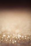 Fondo festivo de la falta de definición del oro La noche abstracta centelleó CCB brillante fotografía de archivo libre de regalías