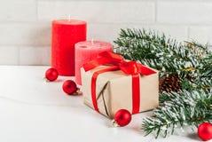 Fondo festivo de la Navidad Fotografía de archivo libre de regalías