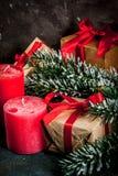 Fondo festivo de la Navidad Foto de archivo