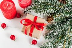 Fondo festivo de la Navidad Fotos de archivo