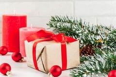 Fondo festivo de la Navidad Imagenes de archivo