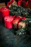 Fondo festivo de la Navidad Foto de archivo libre de regalías