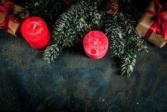 Fondo festivo de la Navidad Fotos de archivo libres de regalías