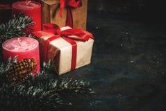 Fondo festivo de la Navidad Fotografía de archivo