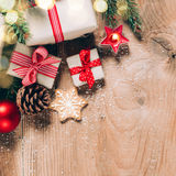 Fondo festivo de la Navidad Imágenes de archivo libres de regalías