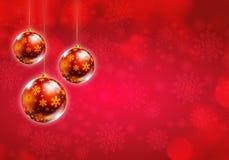 Rojo del fondo de la Navidad Fotos de archivo
