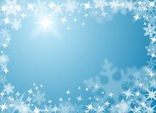 Fondo festivo de la nieve y del hielo Imagenes de archivo