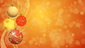 Fondo festivo de las bolas de la Navidad Foto de archivo libre de regalías
