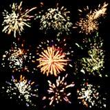 Fondo festivo de los fuegos artificiales Fotos de archivo libres de regalías