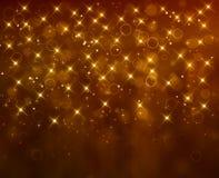 Fondo festivo de oro Foto de archivo libre de regalías