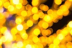 Fondo festivo de oro mucho textura brillante de diverso de la calle de la guirnalda de la decoración diseño de la Navidad foto de archivo libre de regalías