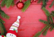 Fondo festivo dei rami di albero verdi fragranti dell'abete, Christm immagini stock